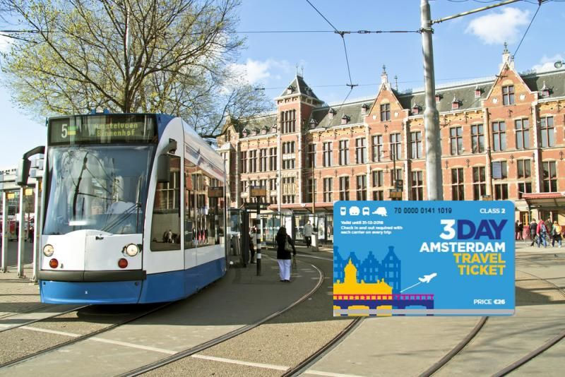 Amsterdam: Public Transport Ticket