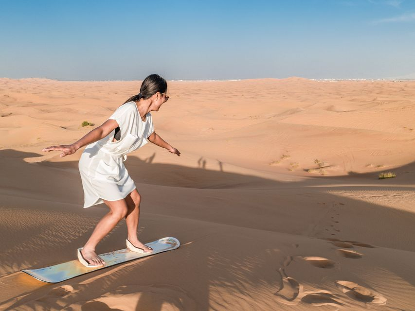 Red Dune Safari with Sandboarding, Camel Ride & BBQ Options